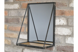 Mirror with Wooden Shelf