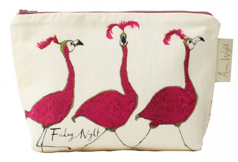 Friday Night Flamingo Make-Up Bag