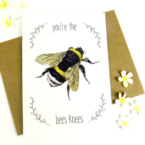 You're The Bees Knees blank card