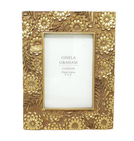 Gold Floral Resin 6 x 4 Photo Frame