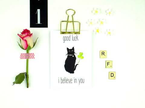 Good Luck I Believe In You (Cat) card