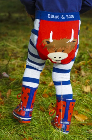 Blade & Rose Highland Cow Baby Leggings