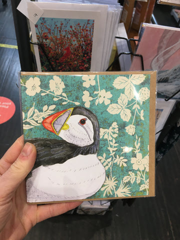 Puffin Square Card Blank