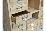 Large Wide Apothecary Style Storage Cabinet