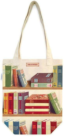 Library Books Print Vintage Style Tote bag