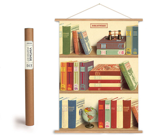 Library Books Print Vintage Style Poster