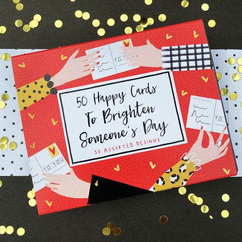 BOX OF 50 HAPPY CARDS
