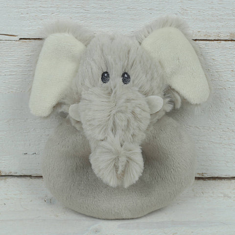 Cuddly Soft Elephant Baby Rattle