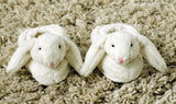Cream Bunny Baby Slippers 0-6 Months