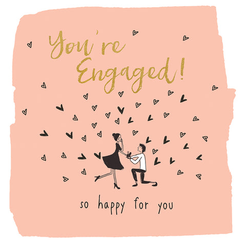 You're Engaged! Beautiful Engagement Card