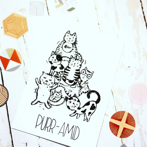 Purramid Cats Postcard