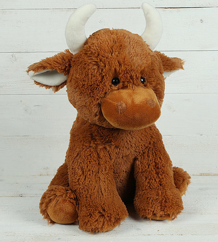 Large Highland Coo Cuddly Toy