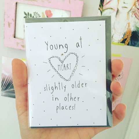 Young at Heart Mini Birthday Card