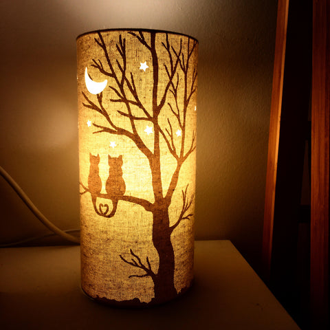 Love Cats Fabric Silhouette Lamp