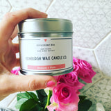 Rhubarb & Plum Scottish Tin Candle