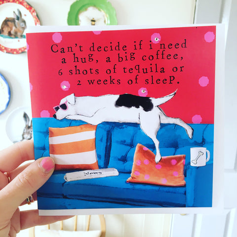 Can't Decide, Funny Doggy Card