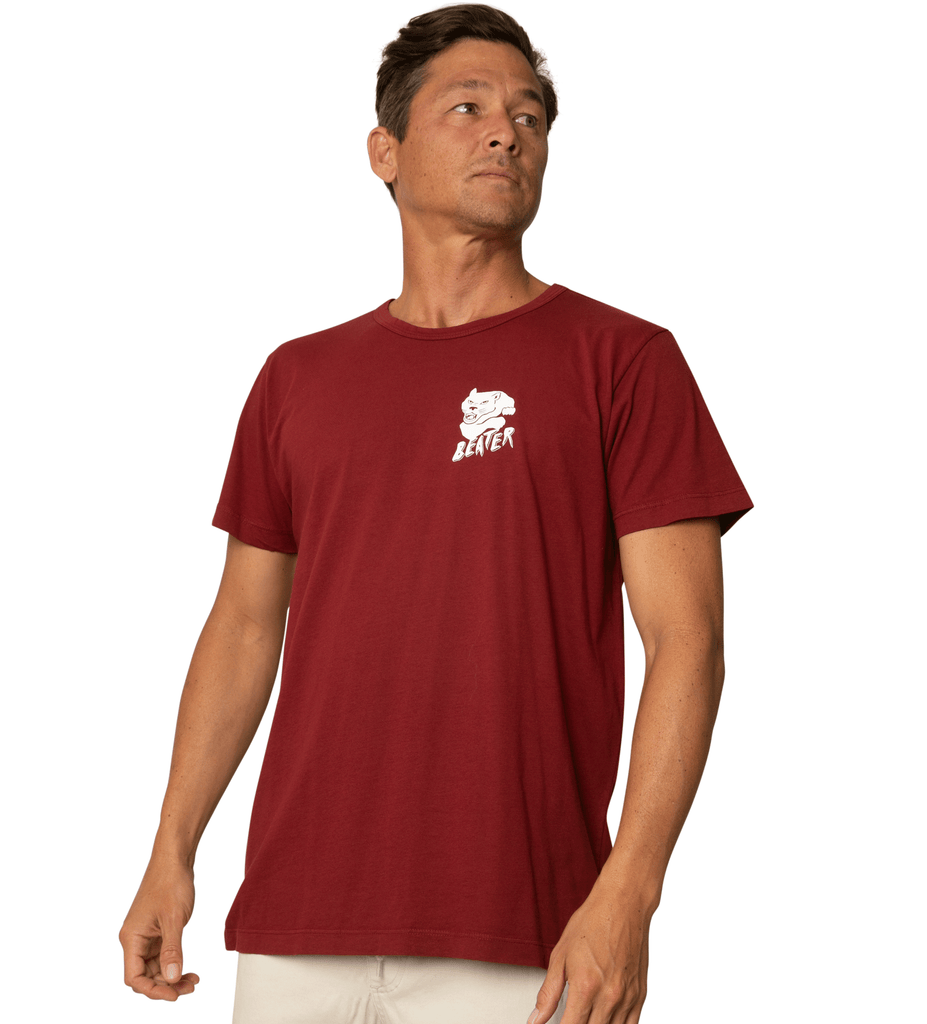 Beater Surf Club  S/S Tee - Maroon