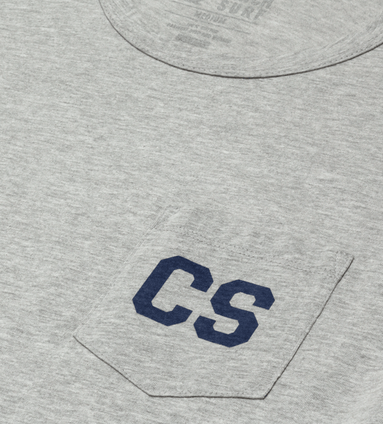 Letterman S/S Pocket Tee - Heather Grey
