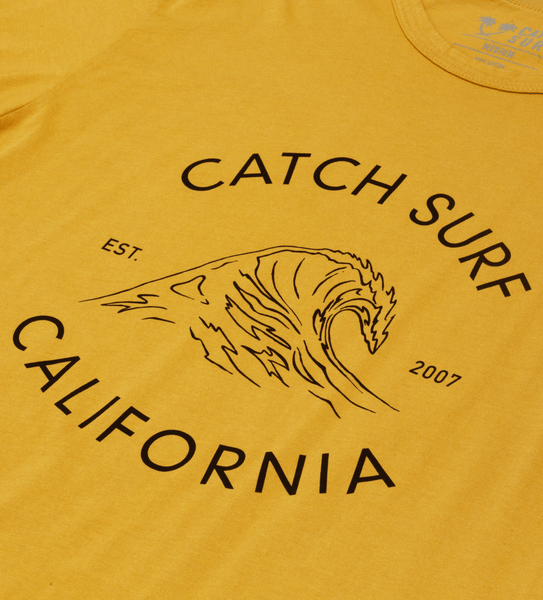 Cali Wave S/S Tee - Gold