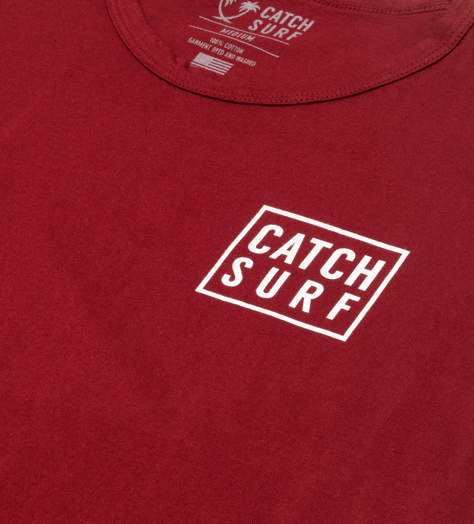 Stacked S/S Tee - Maroon