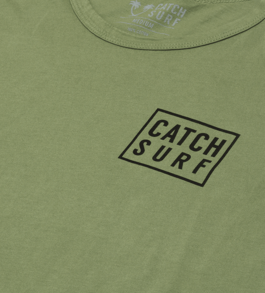 Stacked S/S Tee - Olive Green