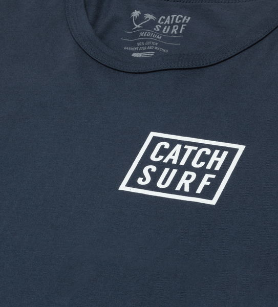 Stacked L/S Tee - Navy