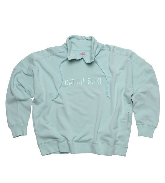 Women's // CS Signature Zip Pullover - Seafoam