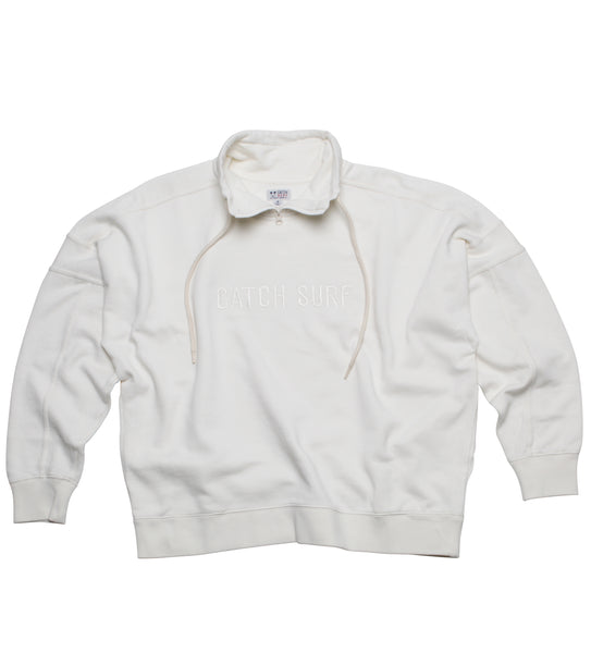 CS Signature Zip Pullover - White