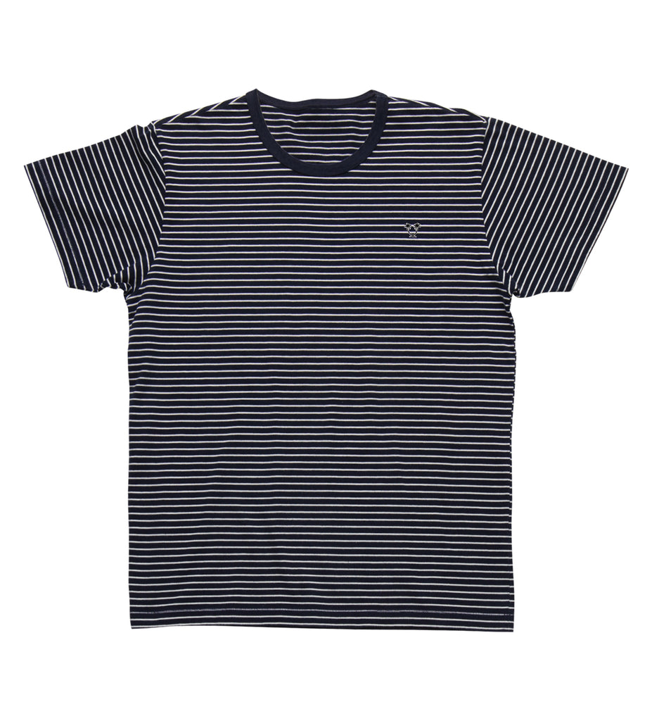 Ensign S/S Striped Knit - Blue/White Stripe