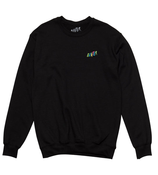 Beater Embroidered Crew Fleece // Black