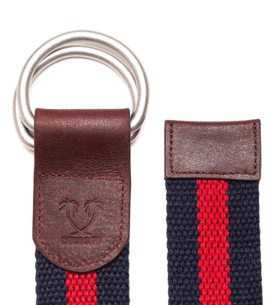 George Belt - Navy/Red
