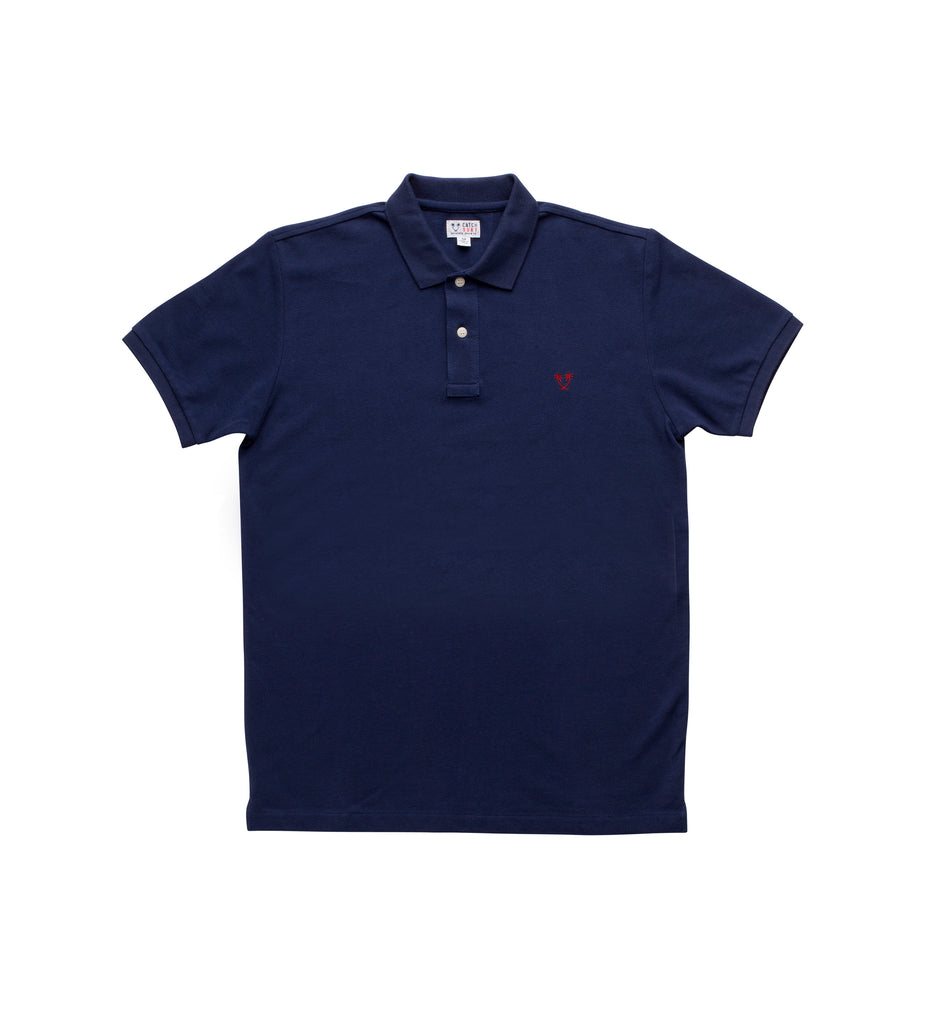 Boy's Lyon S/S Polo - Navy/Red