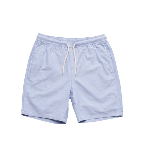 Boy's Long Flight Short - Blue Oxford