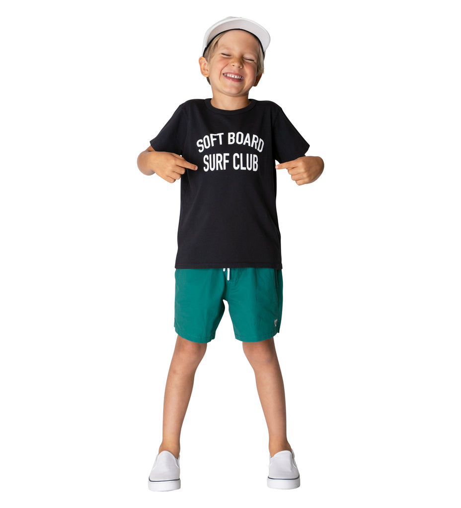 Boy's Softboard Surf Club S/S Tee - Black