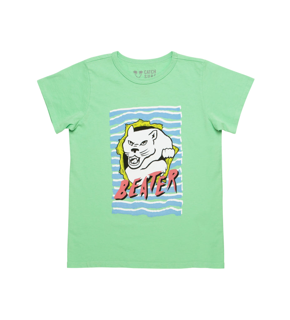 Boy's Beater Rip S/S Tee - Lime