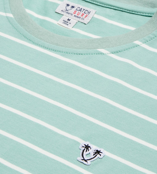 Ensign S/S Striped Knit - Aqua