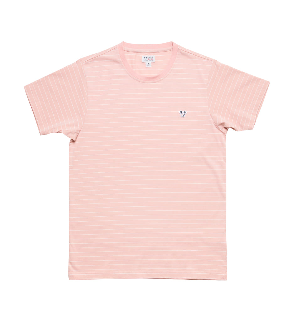 Ensign S/S Striped Knit - Coral