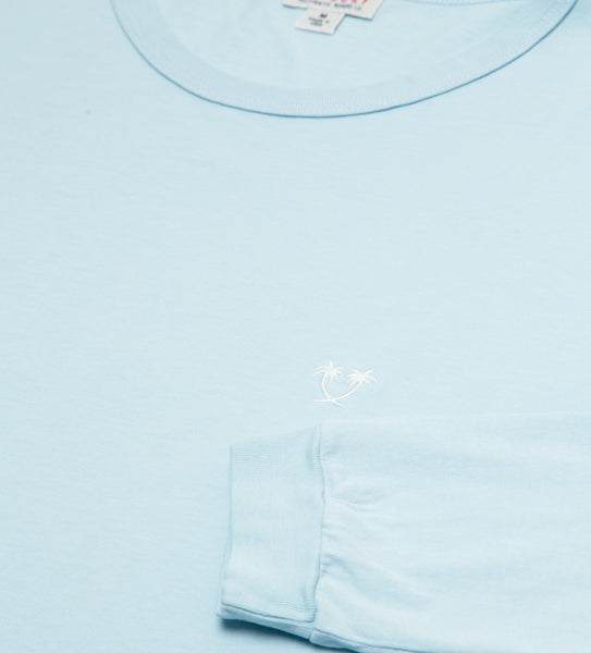 Heritage Top Shelf L/S Tee - Sky Blue