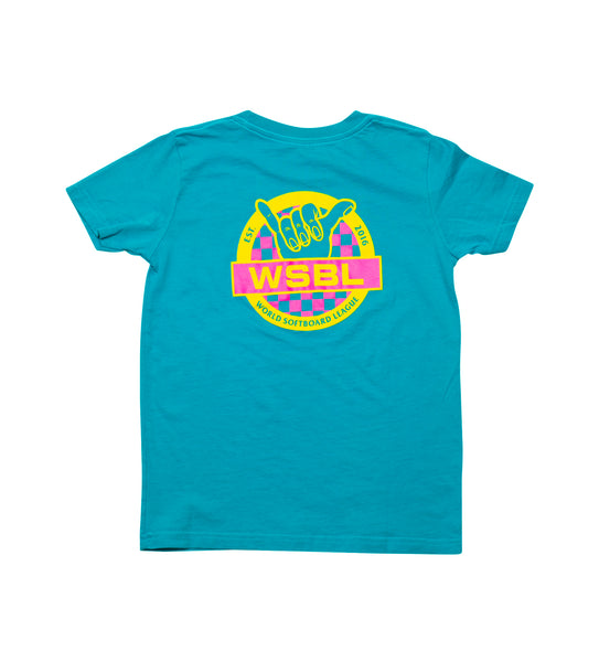 Youth // WSBL Block S/S Tee - Electric Blue