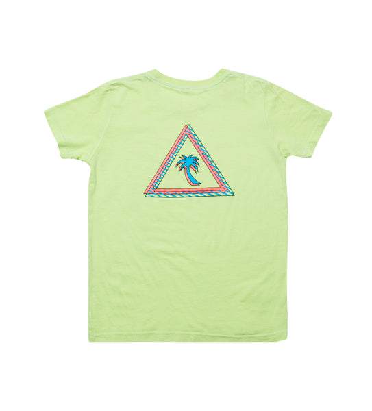 Youth // Tron Triangle Palm S/S Tee - Lime