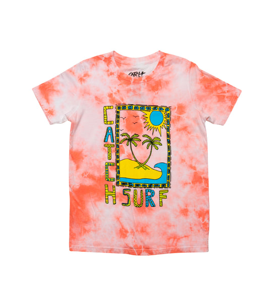 Youth // Mirage S/S Tee - Coral Tie-Dye