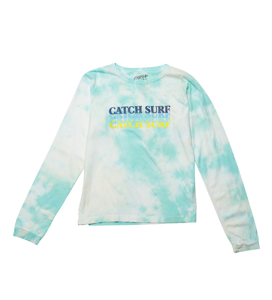 Women's // CS Static Slash L/S Tee - Seafoam Tie/Dye
