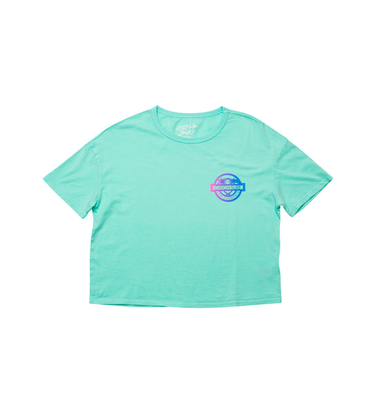 Women's // Catch Surf Stamp Crop Tee - Melon