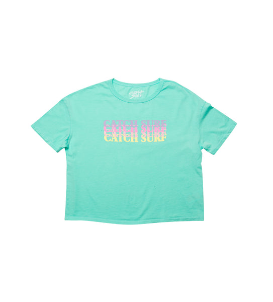 Women's // Catch Surf Fade Crop Tee - Melon