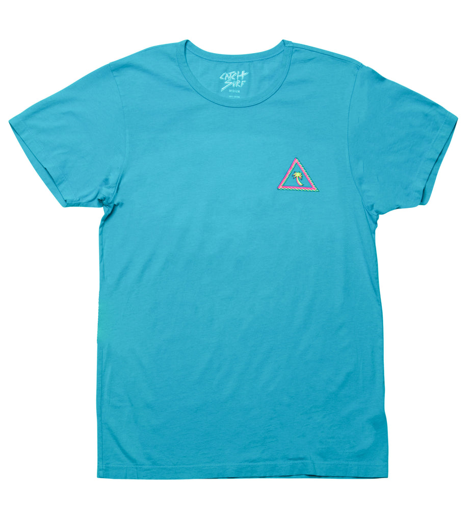 Tron Triangle Palm S/S Tee - Electric Blue