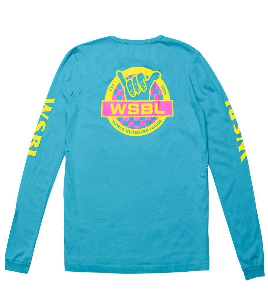 WSBL Block L/S Tee - Electric Blue