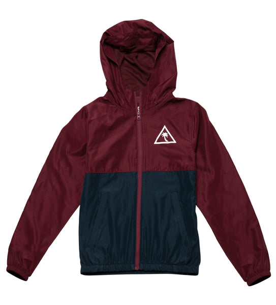 Boy's Dusk Windbreaker - Maroon