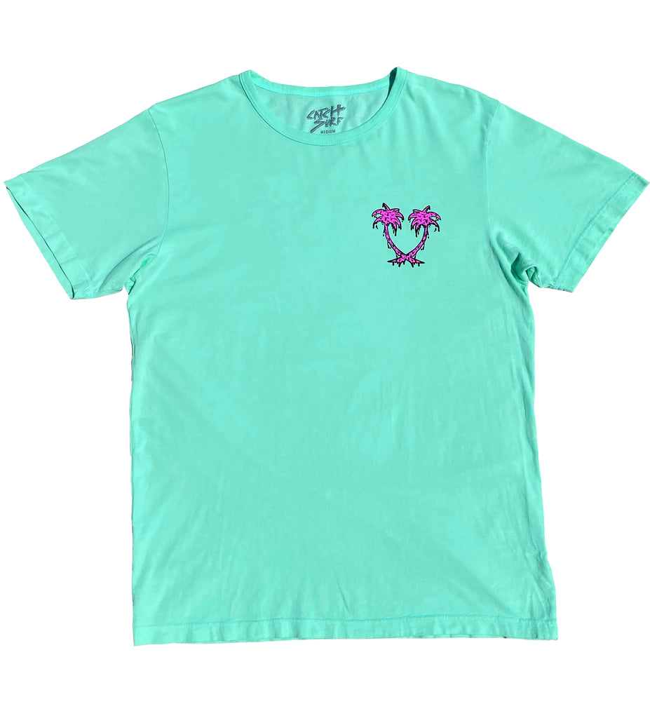 The Melting Palms S/S Tee - Melon
