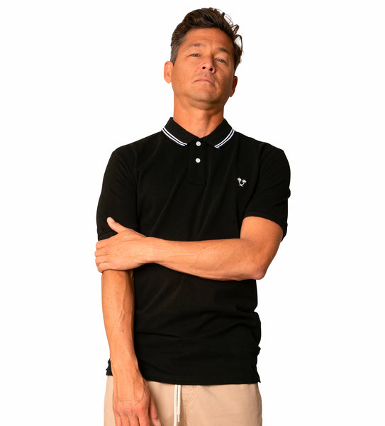 Ivan S/S Polo - Black/White