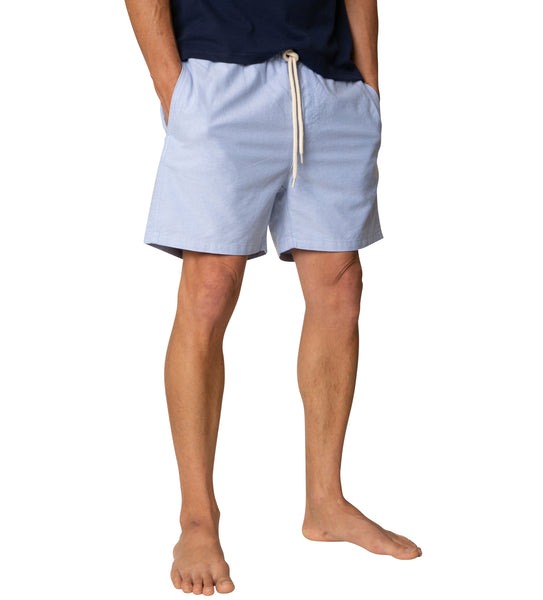 "Long Flight Short (16.5"") - Blue Oxford"